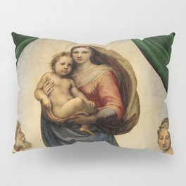 The Sistine Madonna Oil Painting by Raphael Pillow Sham