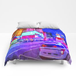 Pop Art Times Square Comforters