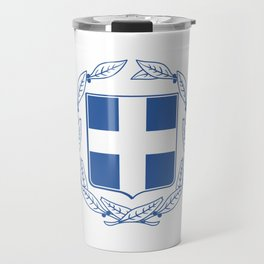 Coast of arms of Greece Travel Mug
