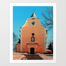 The village church of Berg bei Rohrbach II | architectural photography Art Print