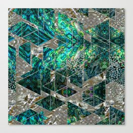 Abstract Geometric Abalone and Mother of pearl Canvas Print