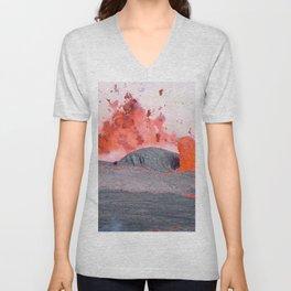 volcano #society6 #decor #buyart Unisex V-Neck
