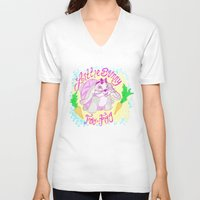 foo fighters V-neck T-shirts featuring Little Bunny Foo-Foo by Lauren Campbell Creations