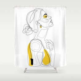 Color Beauty Shower Curtain