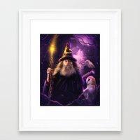 merlin Framed Art Prints featuring Merlin by EnchantedWhispers