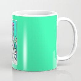 7. The Chariot- Neon Dreams Tarot Coffee Mug