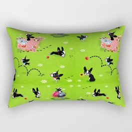 Mirabelle goes to the park a happy dog adventure Rectangular Pillow