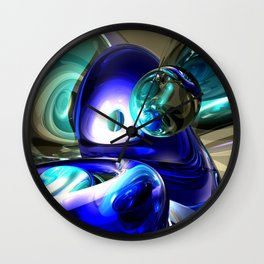 Jewel of the Nile Abstract Wall Clock