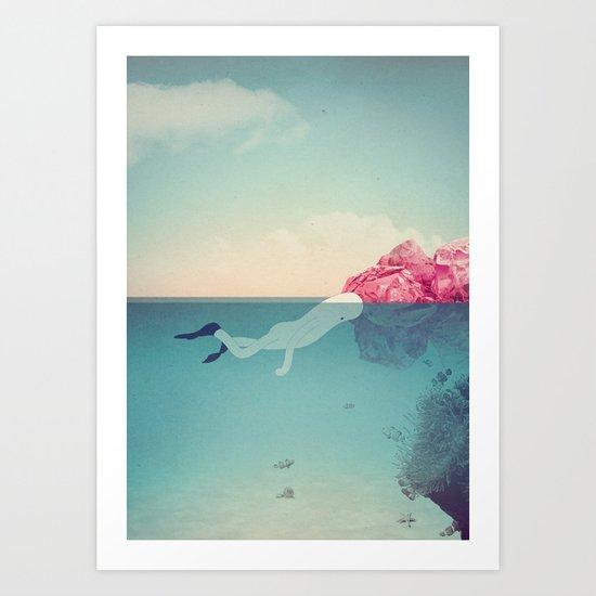 s u b Art Print