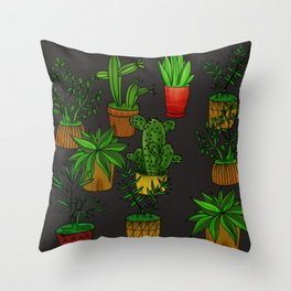 Plants and vases Throw Pillow