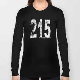 Vintage Philadelphia Area Code 215 Long Sleeve T-shirt