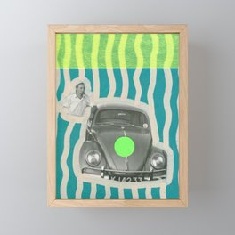 The Illusionist With His Car Framed Mini Art Print