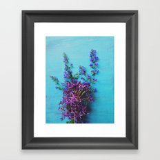 She Found Stray Flowers and Brought Them Home Framed Art Print