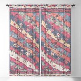 Meshkin Azerbaijan Northwest Persian Bag Print Sheer Curtain