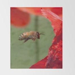 The Levitating Bee Throw Blanket