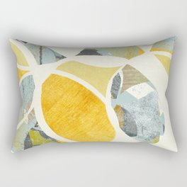 modern mid century, Graphic art, neutral colors, geometric art, circles, modern painting, abstract p Rectangular Pillow