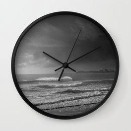 The Surfer and the Storm Wall Clock
