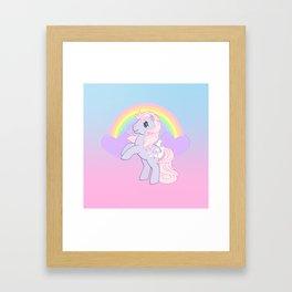 g1 my little pony lickety split Framed Art Print