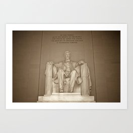 Lincoln Memorial :: Washington DC Art Print
