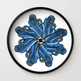 Circling Kingfishers Wall Clock