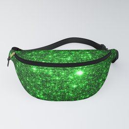 gAlAXy Green Sparkle Stars Fanny Pack