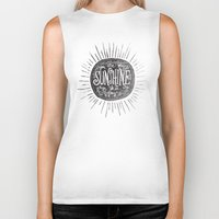 you are my sunshine Biker Tanks featuring YOU ARE MY SUNSHINE by Matthew Taylor Wilson