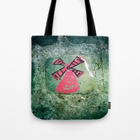 moulin rouge Tote Bags featuring Moulin by Camile O'Briant