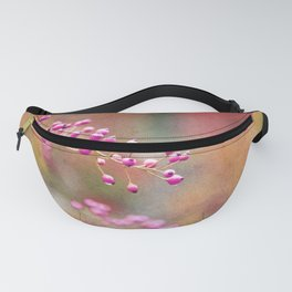 Pink Berries with Pink Orange and Gold Tie Dye Fanny Pack