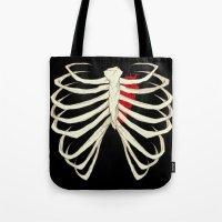 skeleton Tote Bags featuring Skeleton by Abigail Larson