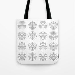 minimalist snow flakes Tote Bag