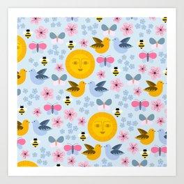 Caitlin Sun Pattern Art Print