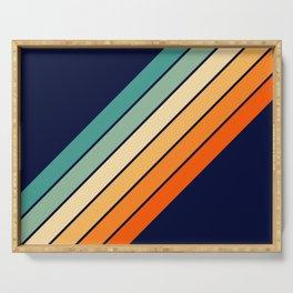 Farida - 70s Vintage Style Retro Stripes Serving Tray