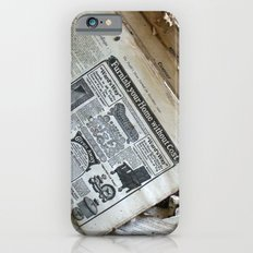 Old Newspaper Left to the Elements...Furnish Your Home in Style iPhone 6s Slim Case