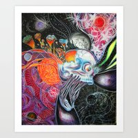 space jam Art Prints featuring space jam by Bribo