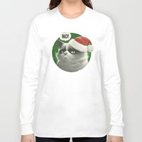 grumpy Long Sleeve T-shirts featuring Grumpy Xmas by Dr. Lukas Brezak