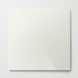 Meadow Mist Polka Dots Metal Print