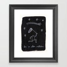 be a star catcher Framed Art Print