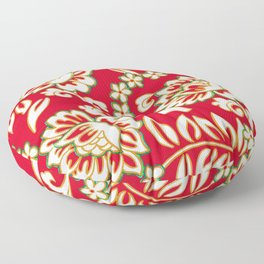 Tropical Eggnog Punch Floor Pillow