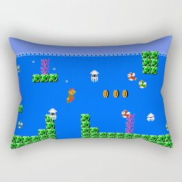 Mario Waterworld Rectangular Pillow
