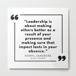 4  | Sheryl Sandberg Quotes | 190902 Metal Print
