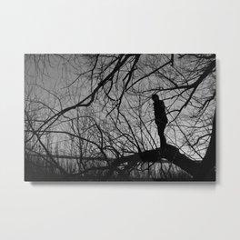 Boy in the Tree Metal Print