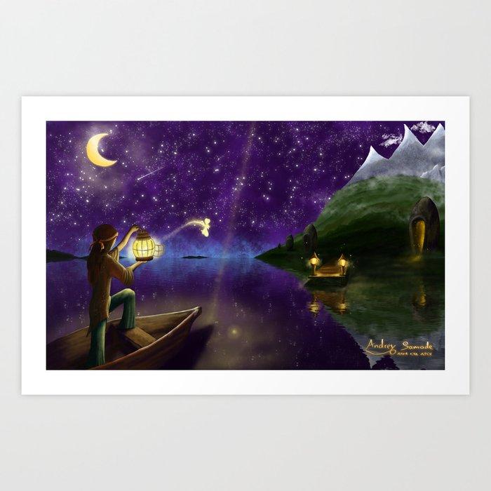 Releasing the Fairy Art Print