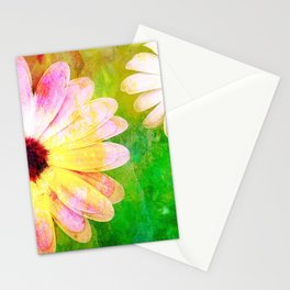 Making art with flower - original Stationery Cards