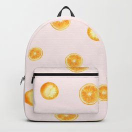 Orange watercolor Backpack