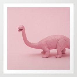 Pink dino Art Print