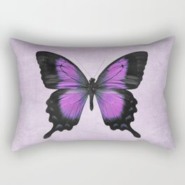 Purple and Radiant Orchid Butterfly Rectangular Pillow