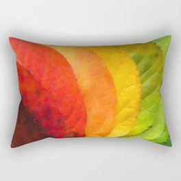 Collection beautiful colorful autumn leaves Rectangular Pillow