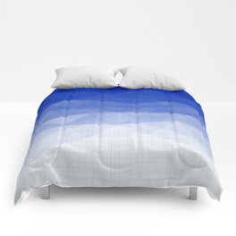 Imperial Lapis Lazuli - Triangles Minimalism Geometry Comforters