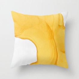 Yellow Ink Throw Pillow