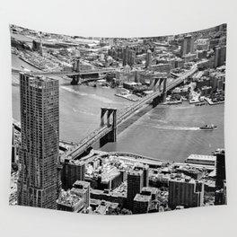Brooklyn Bridge View - New York City Wall Tapestry